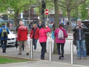 Belfast people walking