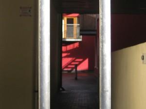 bright sunthru a gate