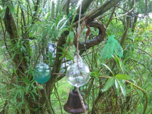 bell and bobbles in tree